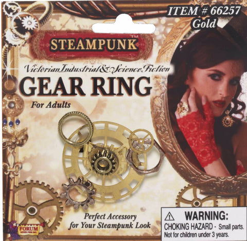Steampunk Gear Ring Gold