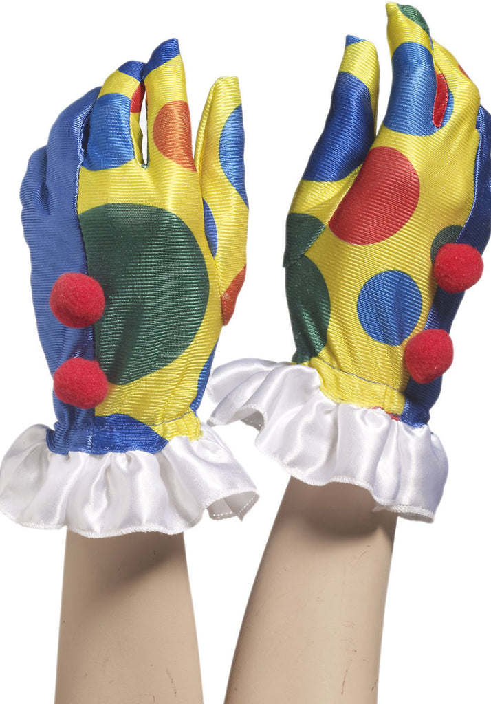 Clown Gloves with Pompoms