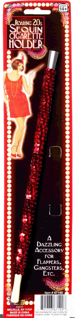 Red Sequin Cigarette Holder