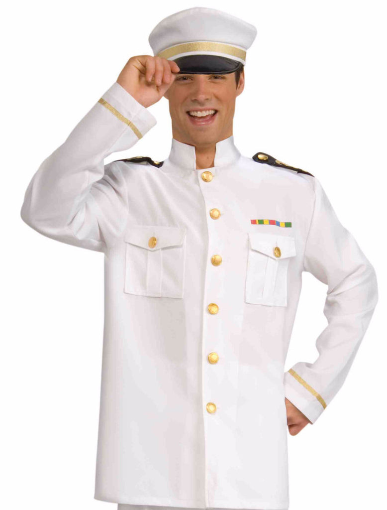 Navy Officer Jacket White