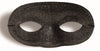Glitter Domino Mask Black