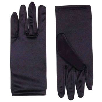 "9"" Satin Gloves Black"
