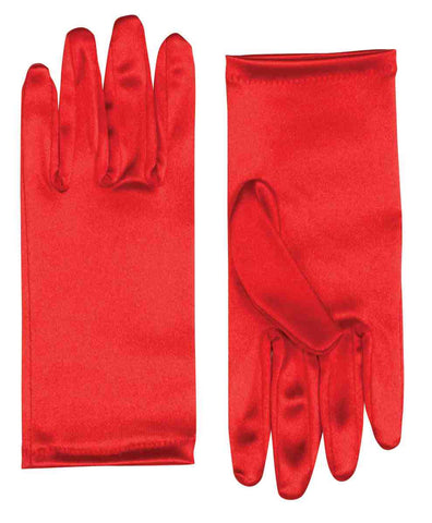 "9"" Satin Gloves Red"