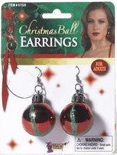 Christmas Ball Earrings Red