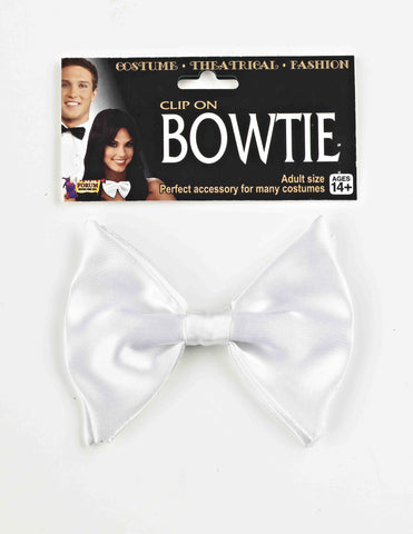 Clip On Bow Tie White