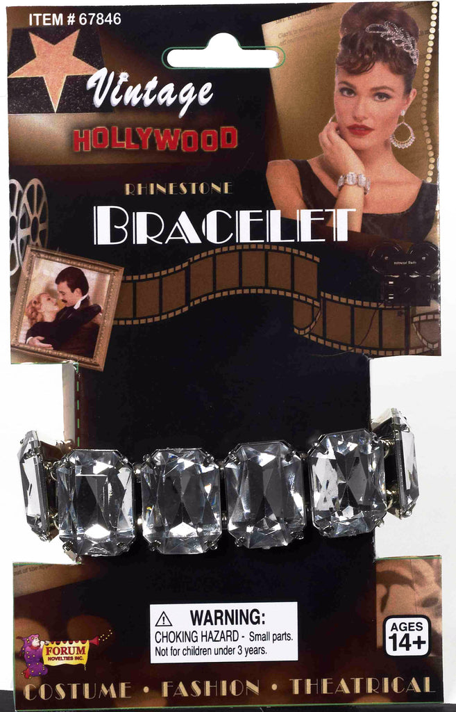 Vintage Hollywood Rhinestone Bracelet