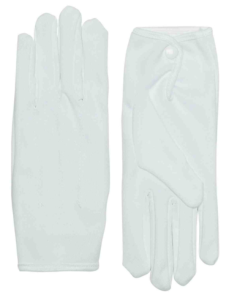 Parade Gloves Short with Snap White
