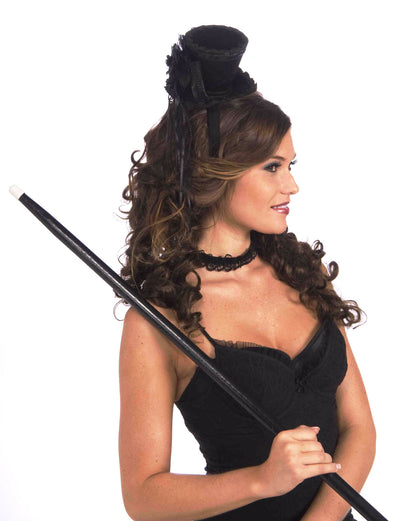 Mini Victorian Top Hat Headband Black