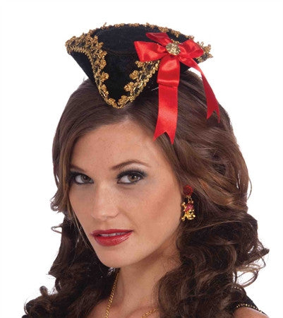 Buccaneer Beauty Mini Hat Red Bow