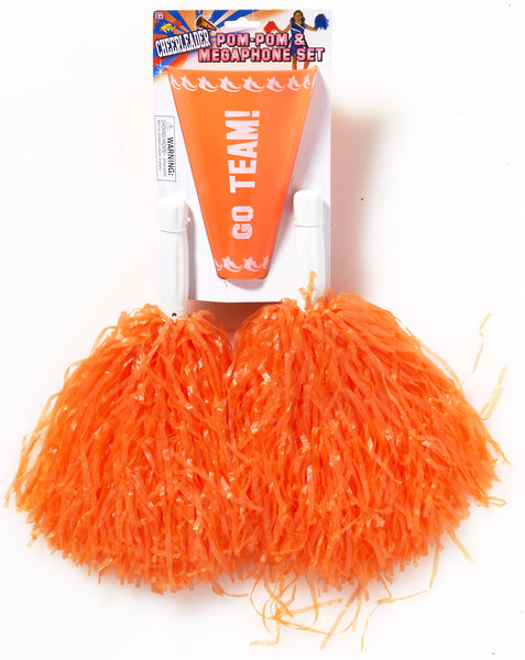 Cheerleader Pom/Pom & Megaphone Orange