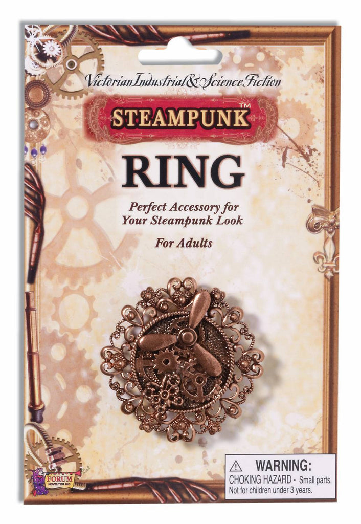 Steampunk Copper Propeller/Gears Ring