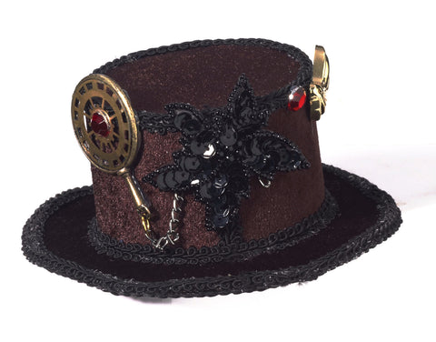 Mini Steampunk Top Hat with Gears