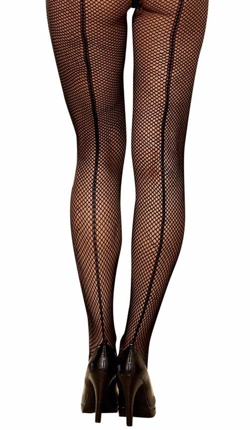 Black Back Seam Fishnet Stockings