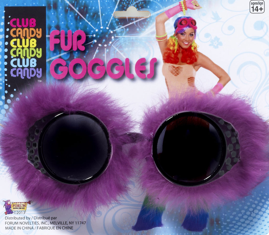 Fur Goggles Purple