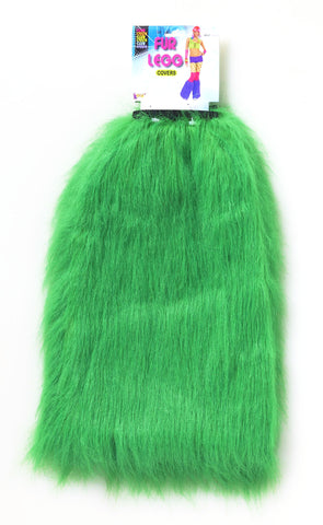 Club Candy Fur Leg Covers Green