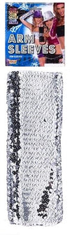 Arm Sleeves Silver Sequin