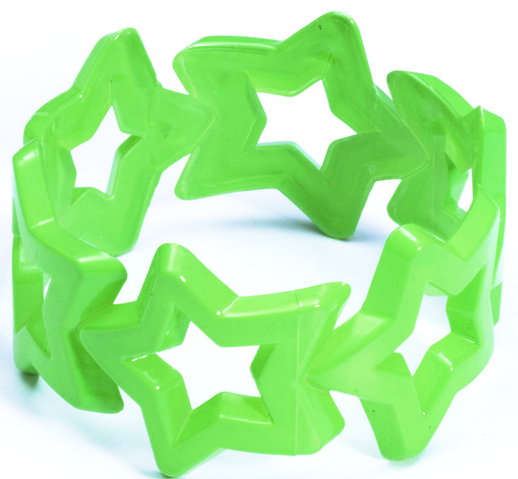 Neon Star Bangle Green