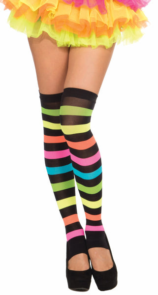 Club Candy Rainbow Thigh Highs