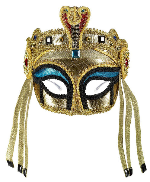 Deluxe Gold Egyptian Mask with Glasses
