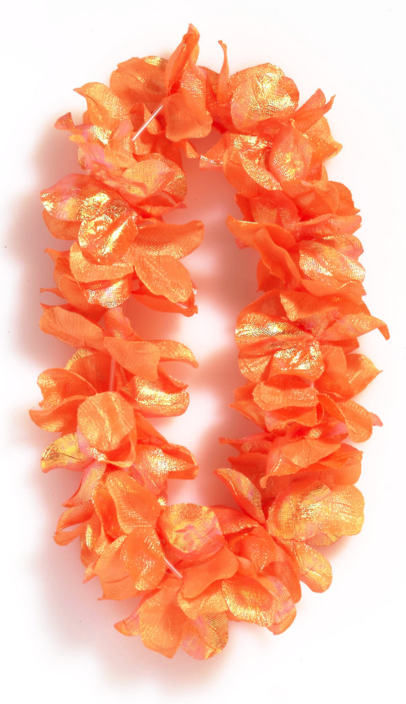 Deluxe Pearlized Lei Orange