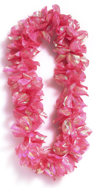 Deluxe Pearlized Lei Pink