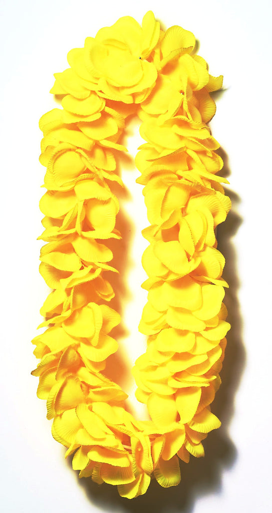 Super Deluxe Lei Solid Yellow