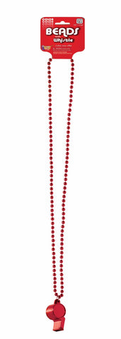 Beads With Whistle Red