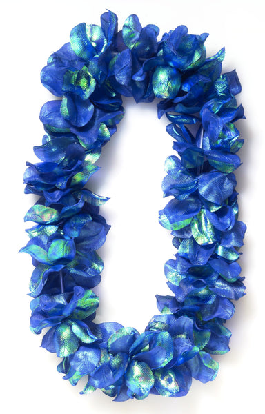 Deluxe Pearlized Lei Blue