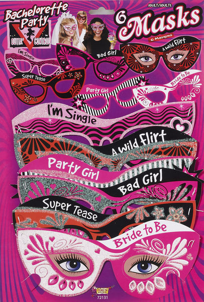 Bachelorette Mask Set of 6
