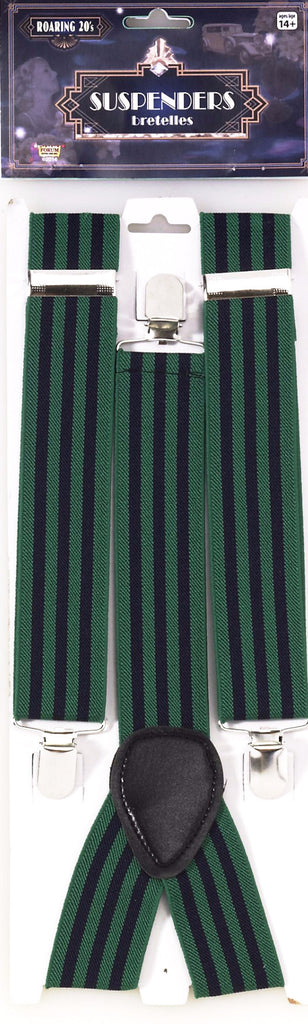 Roaring 20's Striped Suspenders