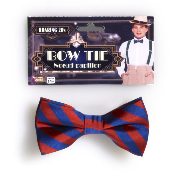 Striped Bowtie Red/Blue