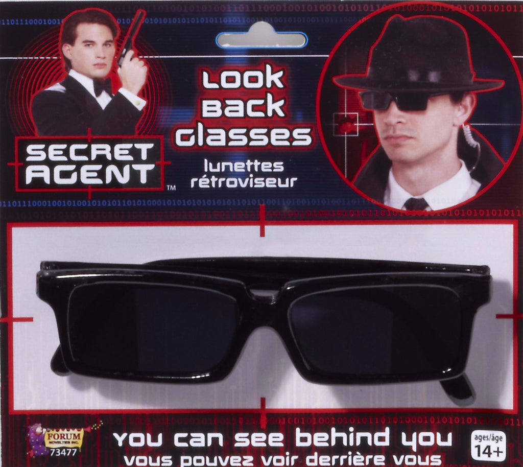 Spy Look Back Glasses Black