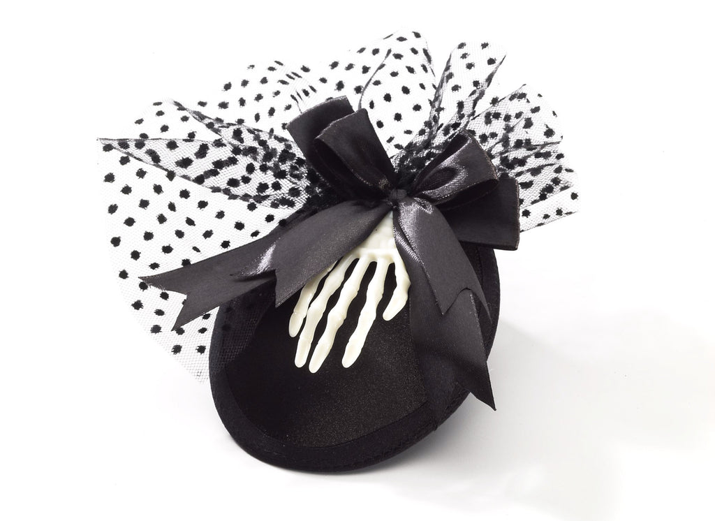 Skeleton Mini Hat with Clips