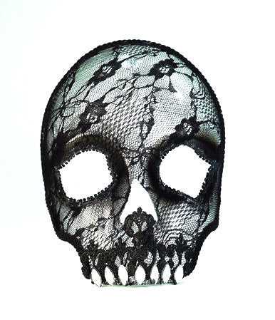 Mask Lace Skull with Eyeglass