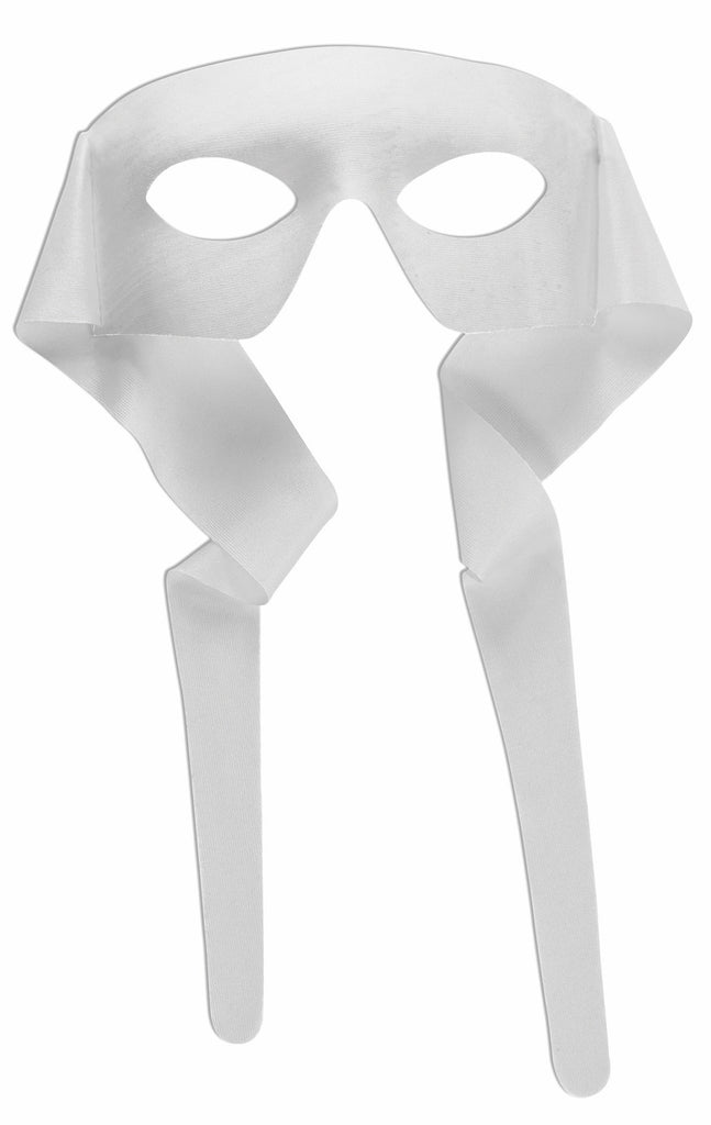 Large Masked Man with Ties White