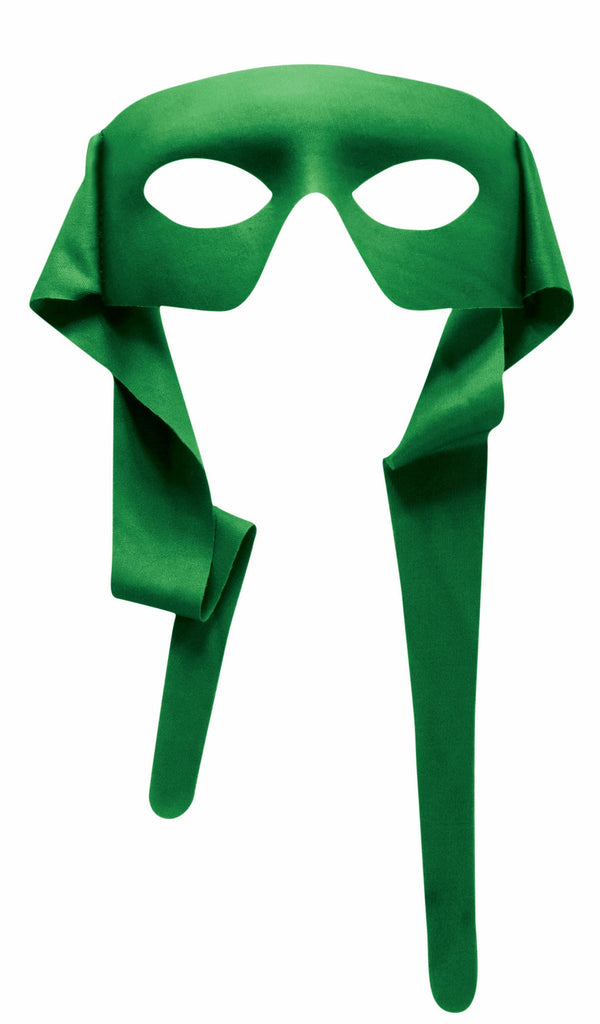 Large Masked Man with Ties Green