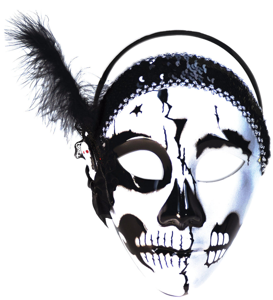 Day of the Dead Female Skull Mask