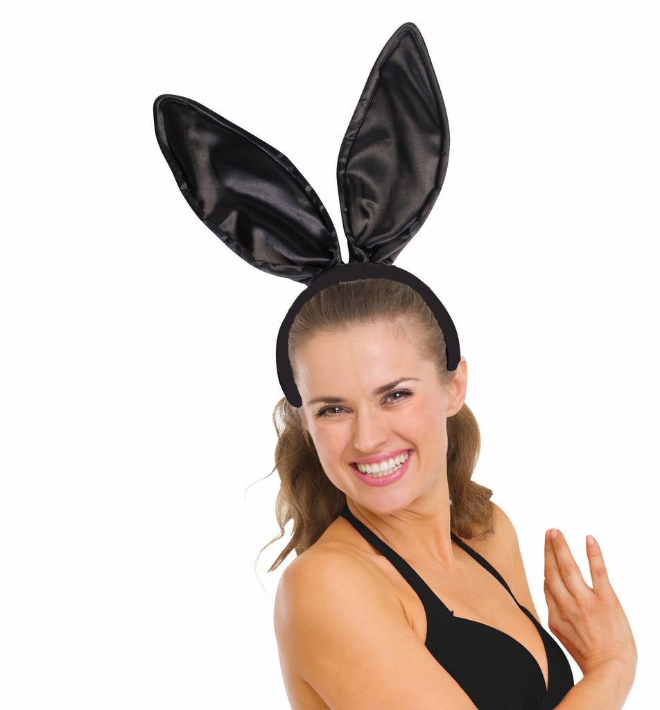 Satin Bunny Ears Black