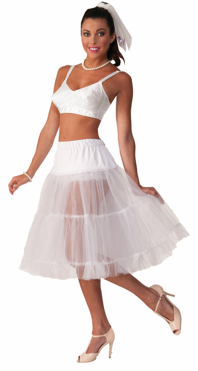 50's Crinoline Skirt White