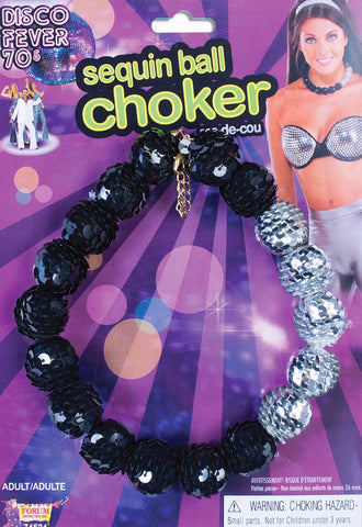 Disco Sequin Ball Choker