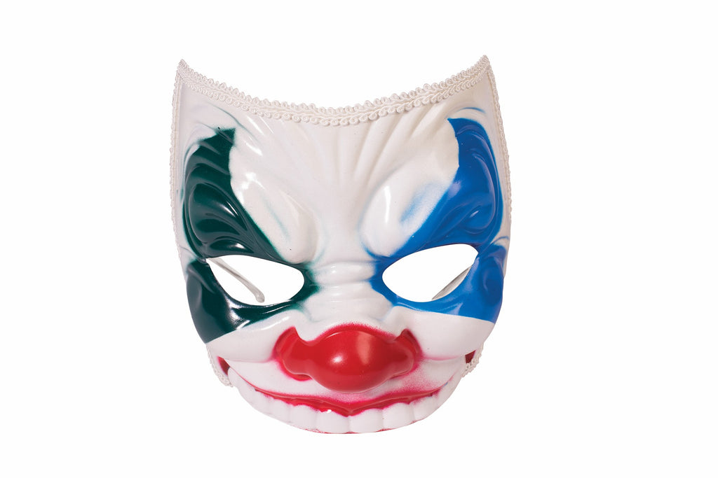 Mask Evil Clown with Eyeglass Arm
