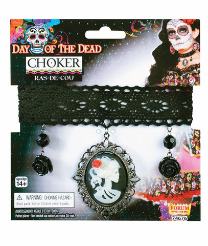 Day of the Dead Cameo Choker