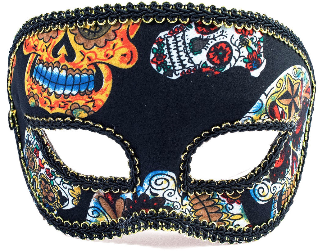 Day of the Dead Half Male Mask