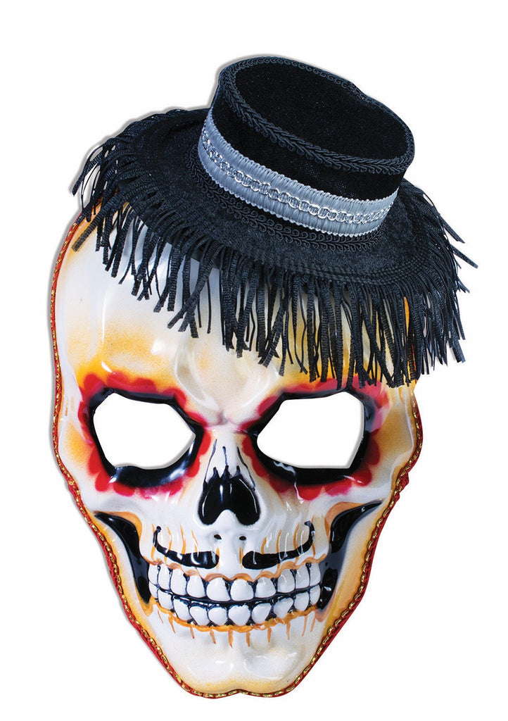 Mask Day of the Dead Skull with Hat