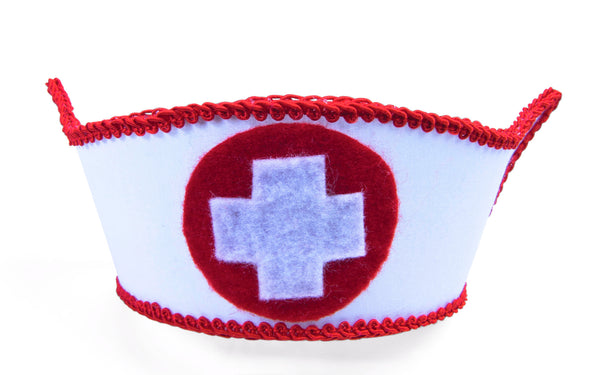 Mini Nurse Hat with Hairclips