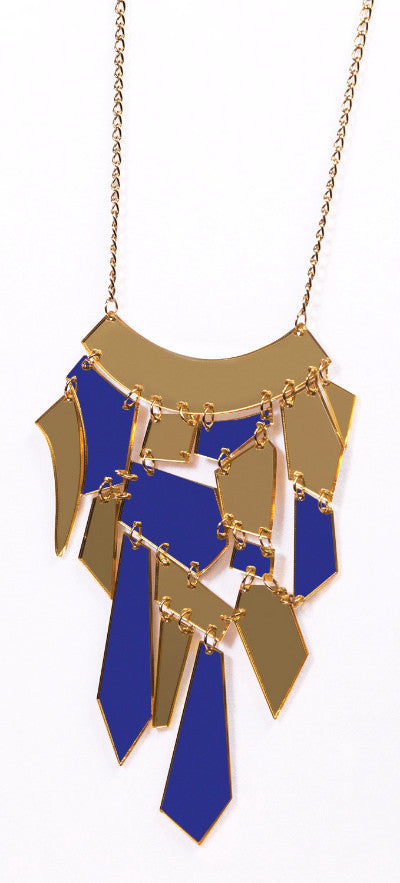 Futuristic Clear/Gold Necklace