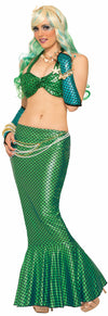 Mermaid Long Tail Skirt Green