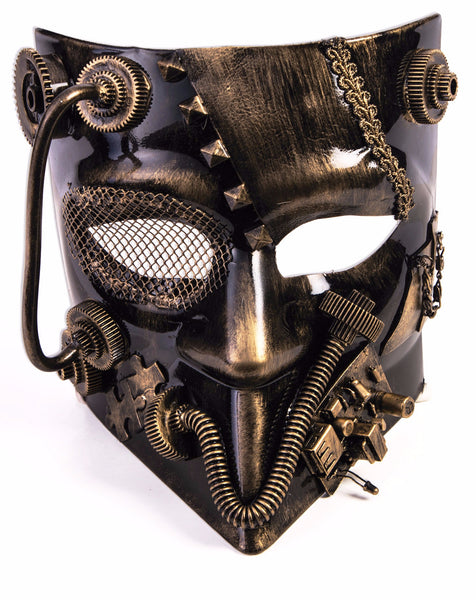 Mask Steampunk Gold Jester