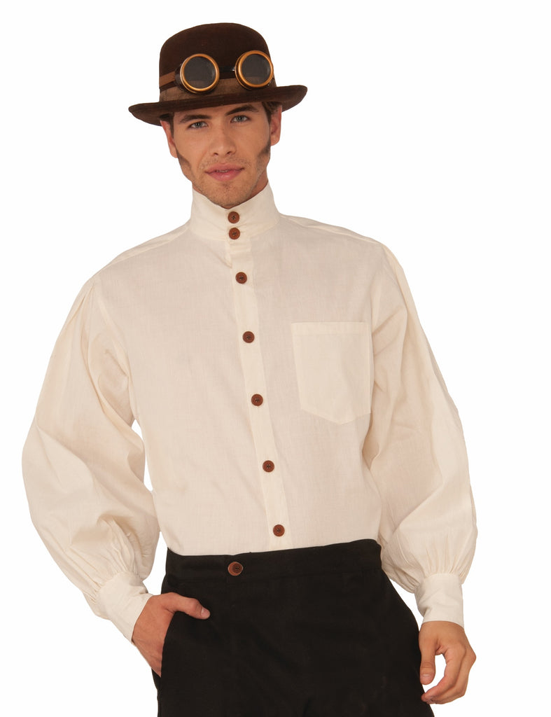 Steampunk Shirt Men's Beige