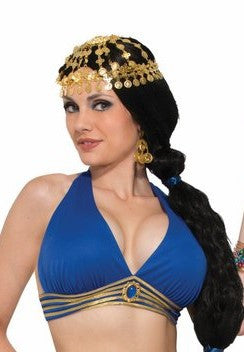 Desert Princess Belly Dancer Top Blue